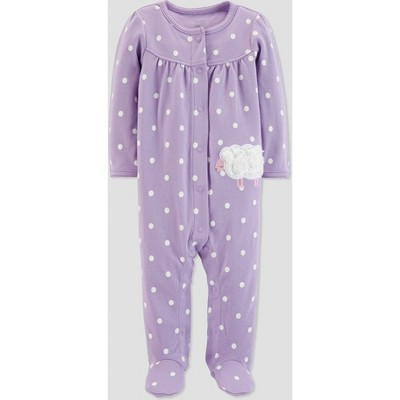 Baby Girls' Sheep Interlock Sleep 'N Play - Just One You® made by carter's Purple 3M
