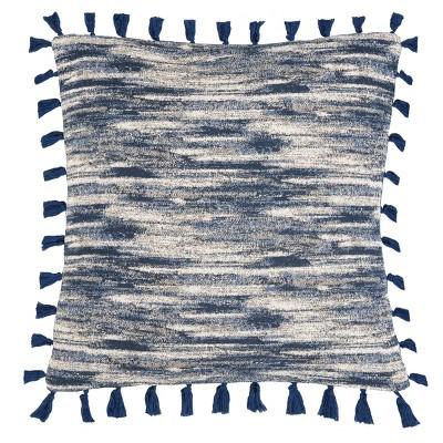 Marni Square Throw Pillow Blue/Cream - Safavieh