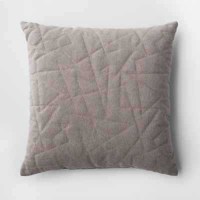 Gray Quilted Geometric Throw Pillow - Project 62™
