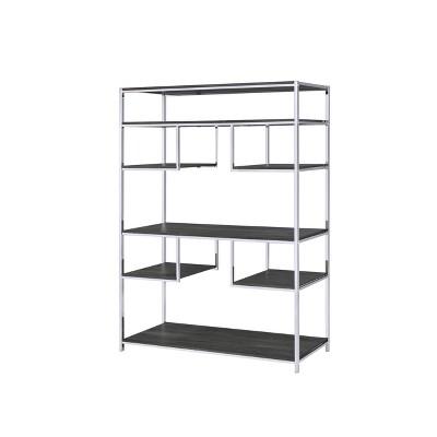 "72"" Vonara Bookcase Chrome - Acme Furniture"