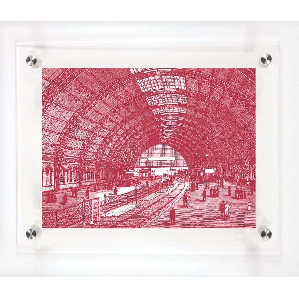 Mitchell Black Perspective Decorative Framed Wall Canvas Cranberry (12