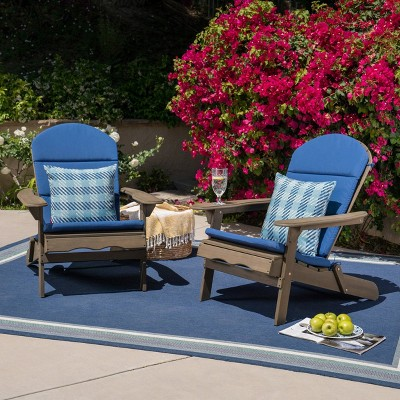 Malibu 2pk Acacia Wood Adirondack Chairs - Gray - Christopher Knight Home