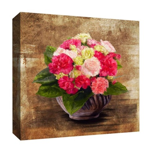 "Flower Center Decorative Canvas Wall Art 16""x16"" - PTM Images - image 1 of 1"