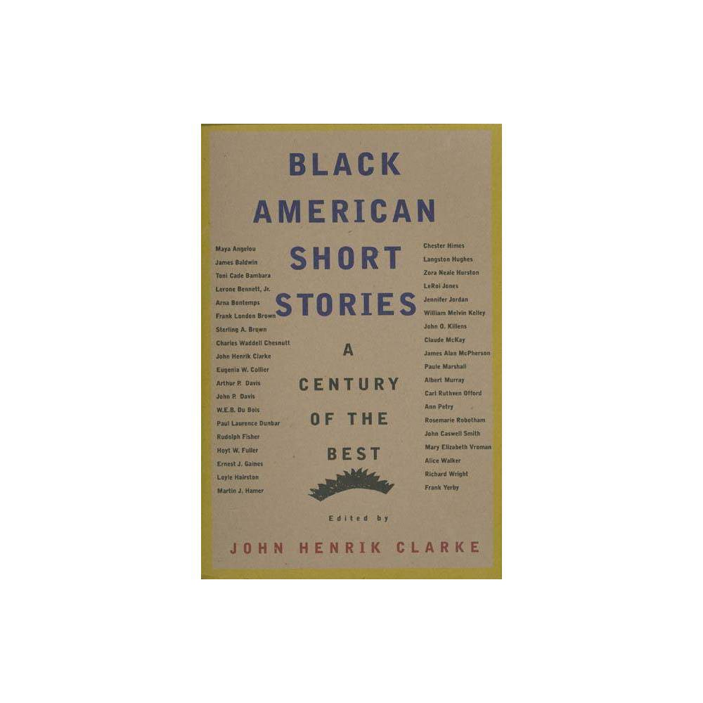 Black American Short Stories By John Henrik Clarke Paperback