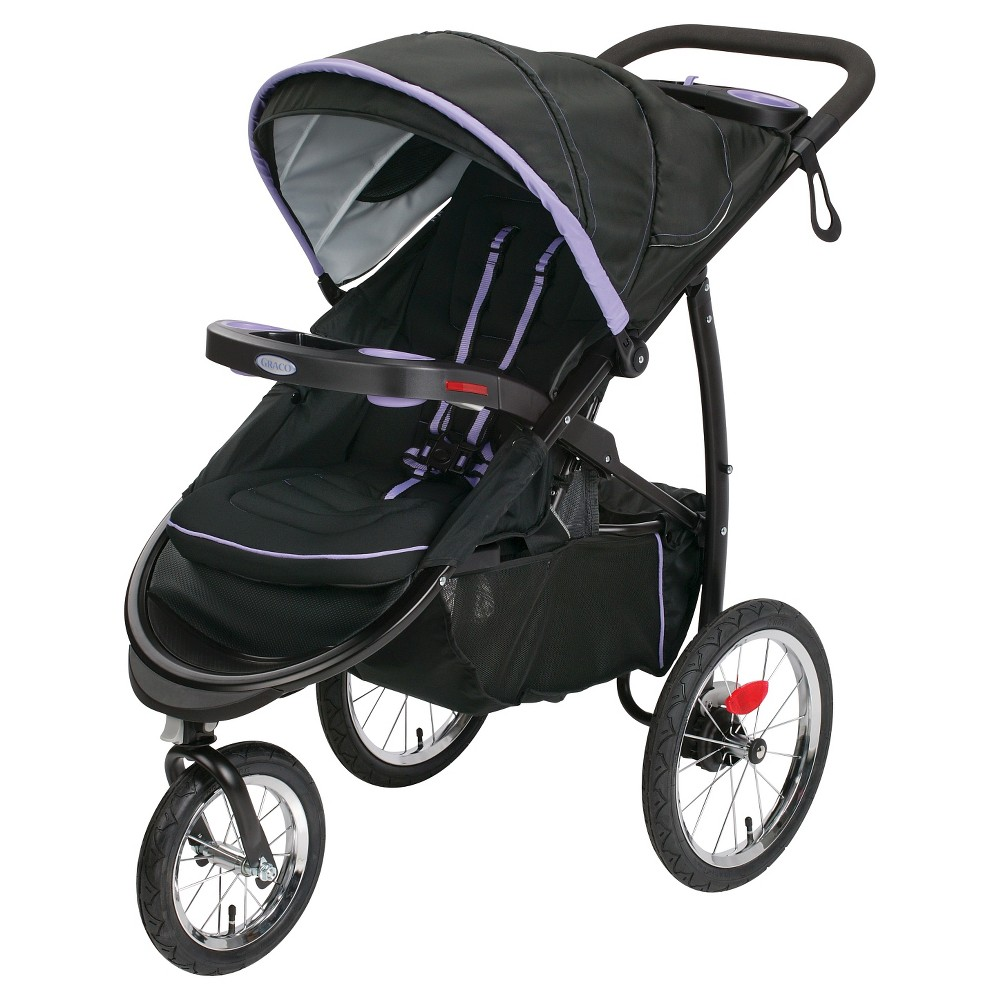 Graco FastAction Fold Jogger Click Connect Stroller, Purple