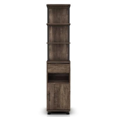 "72.3"" Nanum 4 Shelf Accent Bookcase Reclaimed Oak - miBasics"
