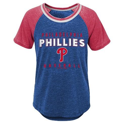 MLB Philadelphia Phillies Girls' Burnout Alt T-Shirt - image 1 of 1