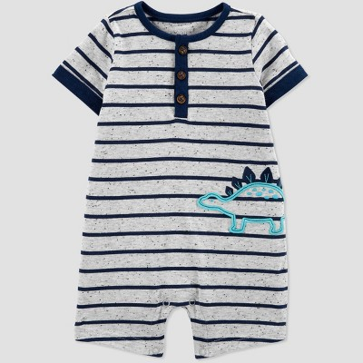 Baby Boys' Dino Romper - Just One You® made by carter's Gray 3M