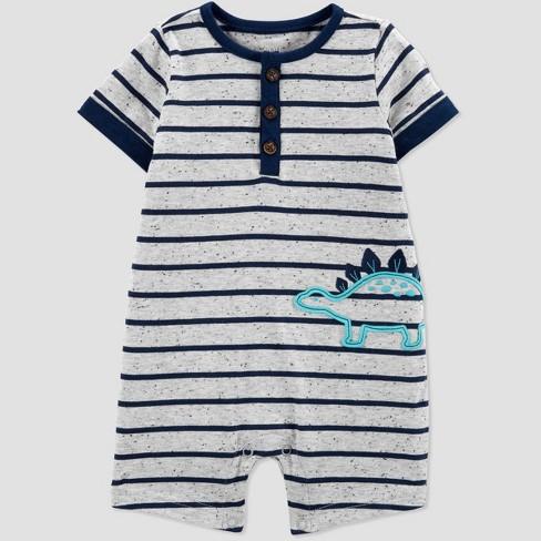 9e6f0fae0b3b Baby Boys  Dino Romper - Just One You® Made By Carter s Gray   Target