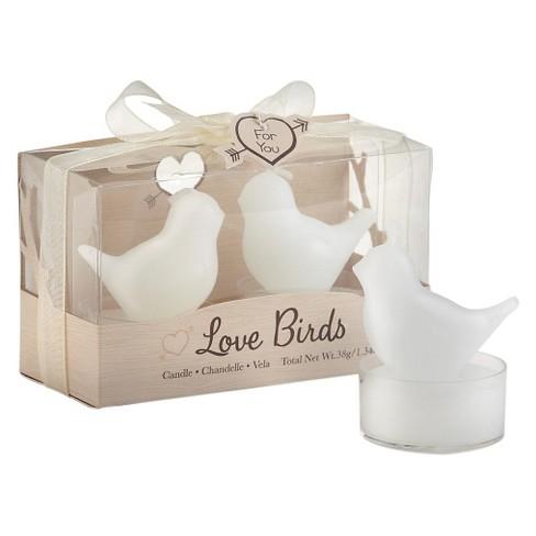 12ct Love Birds White Bird Tea Candles : Target