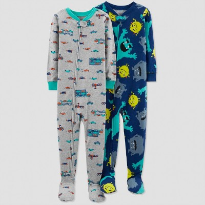 Baby Boys' Monster Pajama Set - Just One You® made by carter's Blue 12M