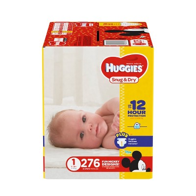 Huggies Snug & Dry Diapers - Size 1 (276ct)