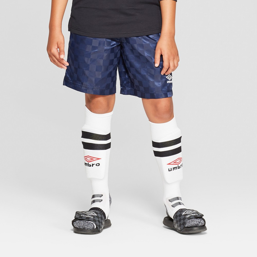 Umbro Boys' Checkerboard Shorts - Navy Blue M