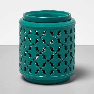 "6.5"" x 4.5"" Ikat Lantern Scent Warmer Turquoise - Opalhouse™"