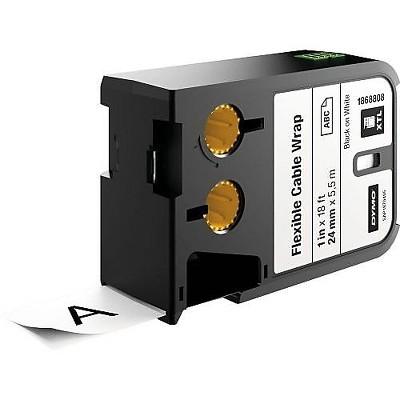 """Dymo XTL 1868808 Label Maker Tape, 1""""W, Black on White"""