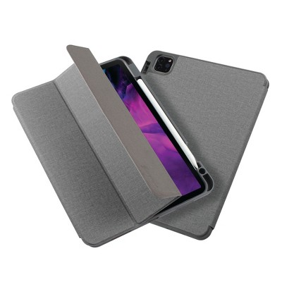 """Insten - Soft TPU Tablet Case For iPad Pro 11"""" 2020, Multifold Stand, Magnetic Cover Auto Sleep/Wake, Pencil Charging, Gray"""