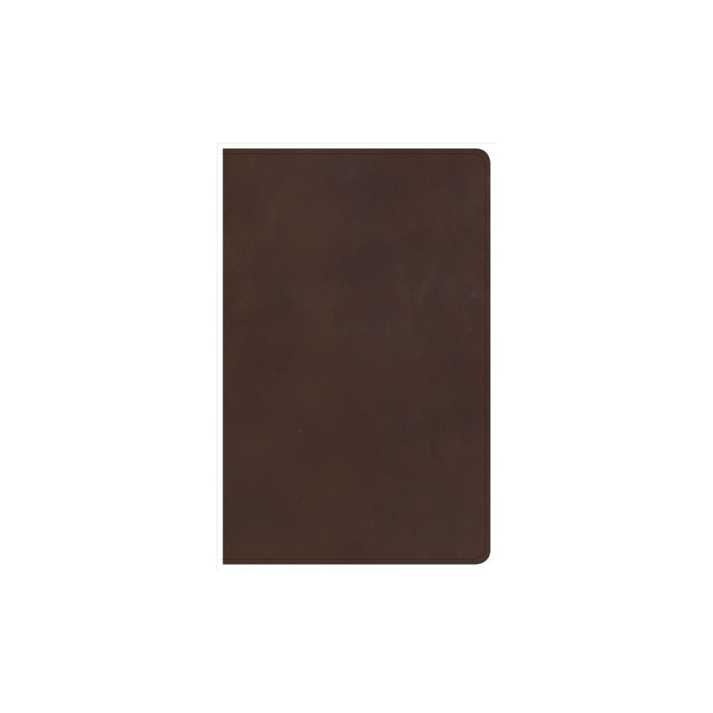 Holy Bible : Christian Standard Bible, Brown Genuine Leather, Single-Column Personal Size - (Paperback)