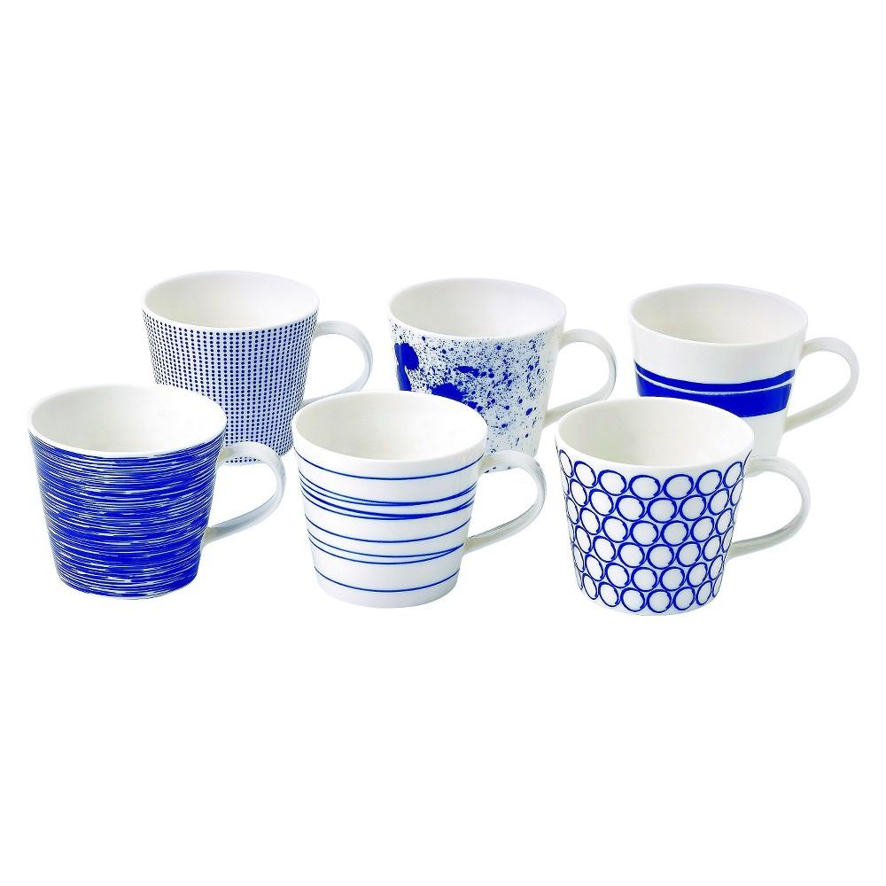 Royal Doulton Pacific 10oz Accent Mugs - Set of 6