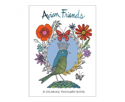 Avian Friends Coloring Postcards (Stationery) - image 1 of 1