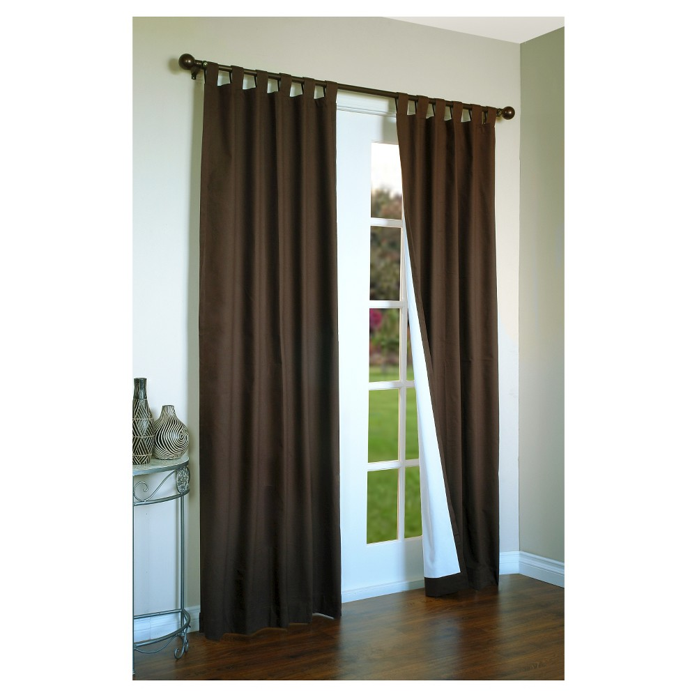 Weathermate Tab Curtain Panel Pair - Chocolate (Brown) (80 x 72)