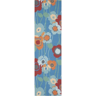 """Waverly Sun & Shade """"Pic-A-Poppy"""" Bluebell Indoor/Outdoor Area Rug by Nourison"""