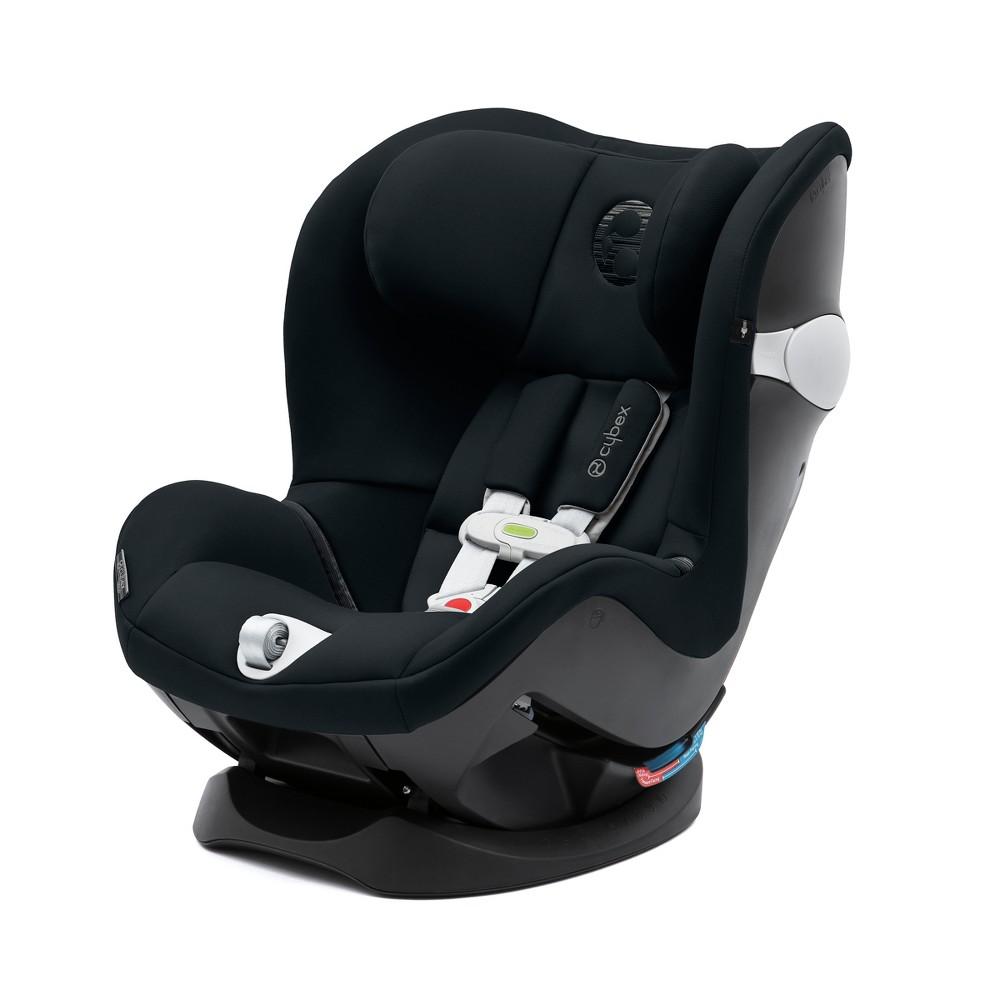 Image of Cybex Sirona Sensors safe Convertible Car Seat - Lavastone Black