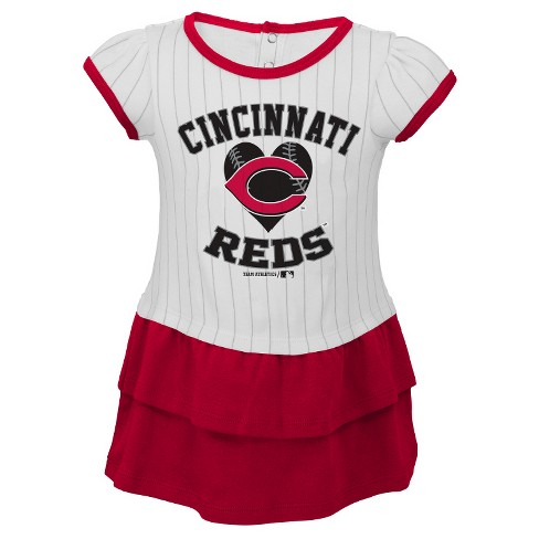 Cincinnati Reds Toddler Girls' Pinstripe Dress & Bloomers Set - image 1 of 1