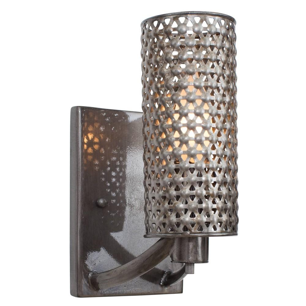 Casablanca 1 Light Bath Fixture - Steel (Silver)