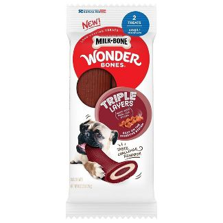 Milk-Bone Wonder Bones TL Long-Lasting Treats Made with Bacon - S/M - 2ct