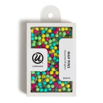 U Brands 300ct Map Push Pins