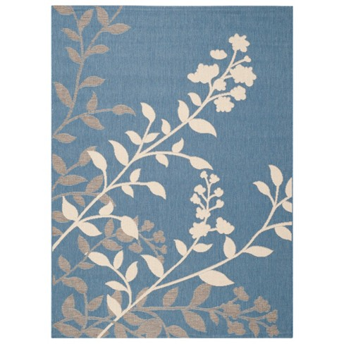 Barreiro Patio Rug - Blue / Beige - Safavieh® - image 1 of 1