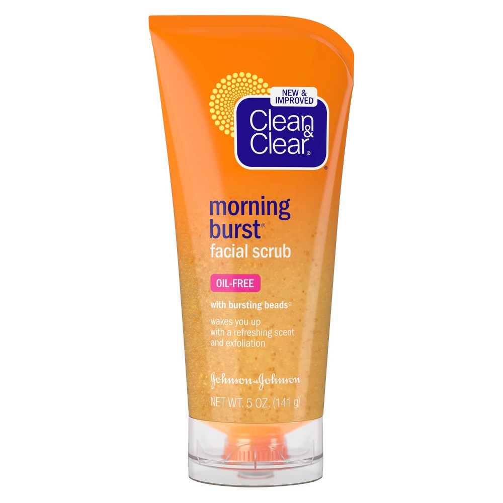 Clean & Clear Morning Burst Facial Scrub For All Skin Types - 5 fl oz