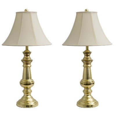 """32"""" Set of 2 Thompson Touch Control Table Lamp Gold - Decor Therapy"""