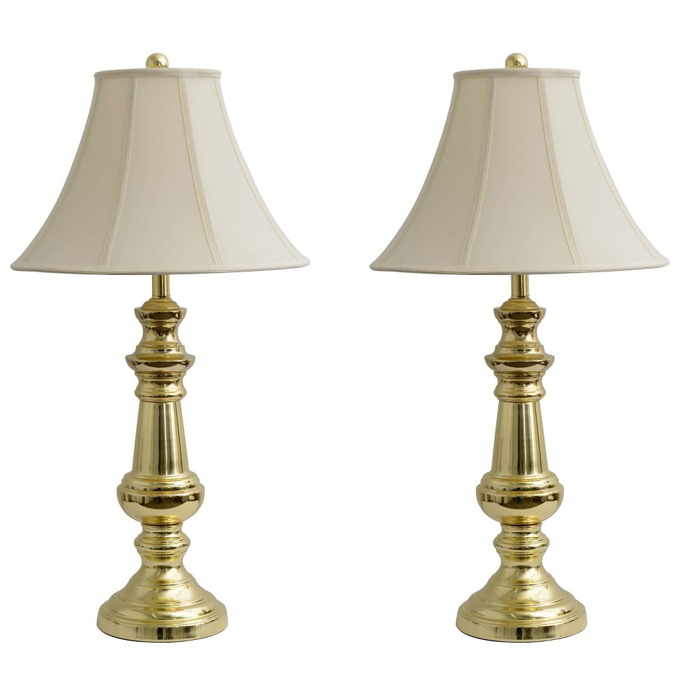 Image of Set of 2 Thompson Touch Control Table Lamp Gold - Decor Therapy