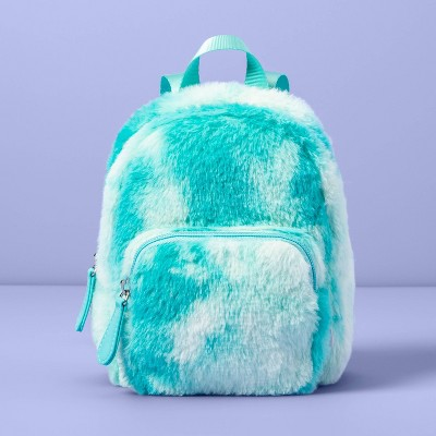 Girls' Faux Fur Mini Backpack - More Than Magic™ Green