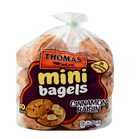 Thomas' Cinnamon Raisin Pre-Sliced Mini Bagels - 12ct/18oz - image 1 of 1