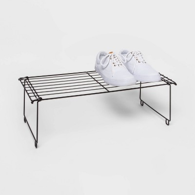 Stackable Single Shoe Rack Black - Room Essentials™