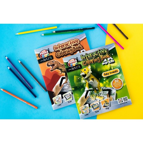 2pk 4D Interactive Coloring Book Dinosaurs/Baby Animals - Pukka Fun with Art 101 - image 1 of 5