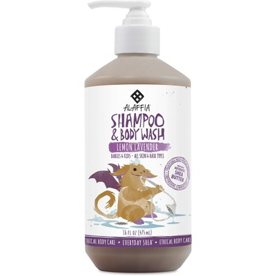 Alaffia Everyday Shea Baby Shampoo & Body Wash, Lemon Lavender - 16oz