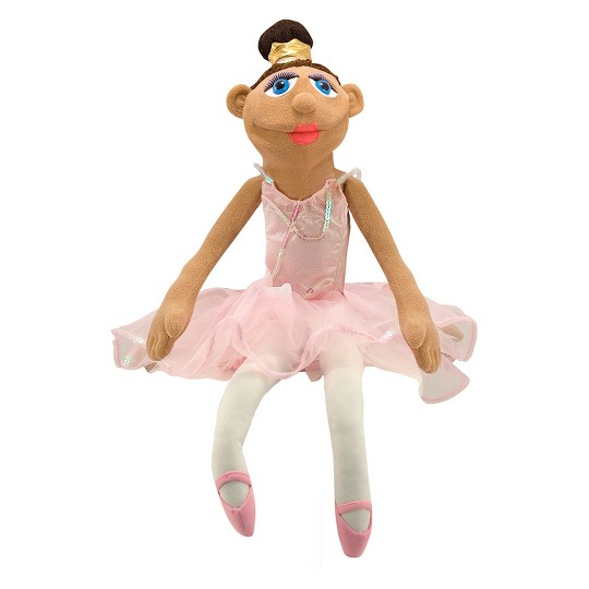 Melissa & Doug Ballerina Puppet - Full-Body With Detachable Wooden Rod for Animated Gestures image number null