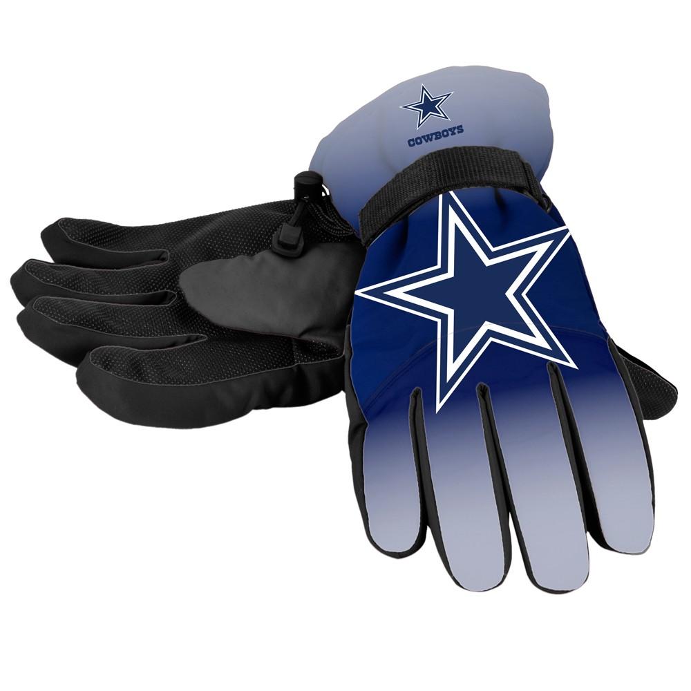 NFL Dallas Cowboys Big Logo Insulated Gloves - L/XL, Adult Unisex