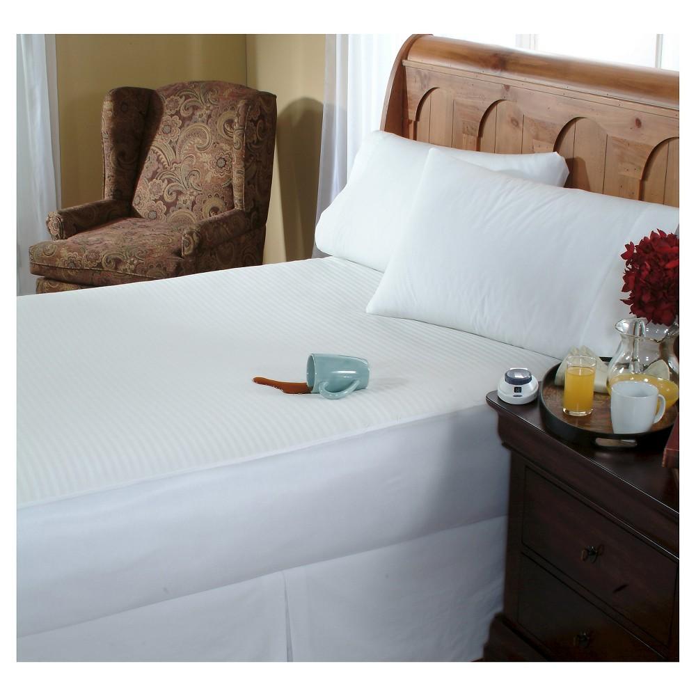 Waterproof Warming Mattress Pad (Queen) White - Soft Heat
