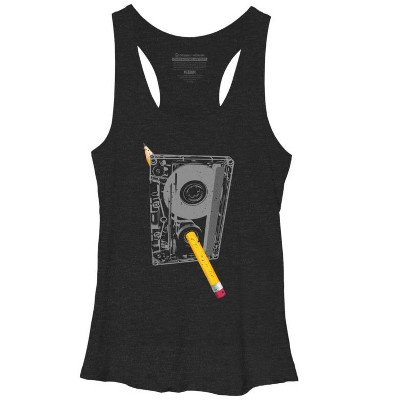 Rewind Womens Graphic Racerback Tank Top - Design By Humans