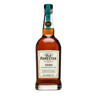 Old Forester 1920 Prohibition Style Bourbon Whiskey - 750ml Bottle