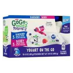 GoGo squeeZ Kids' YogurtZ, Variety Blueberry/Berry - 3oz/10ct