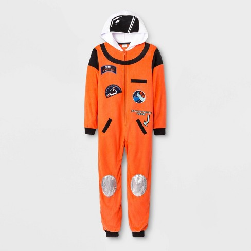 Boys' Astronaut Union Suit - Cat & Jack™ Orange - image 1 of 1