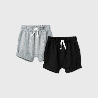 Baby Boys' 2pk Pull-On Shorts - Cat & Jack™ Gray 12M