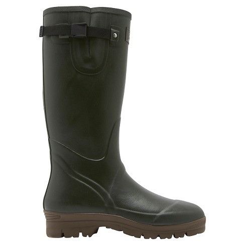 Men's Joules® Field Welly Neoprene Lined Rain Boots - Green - image 1 of 4