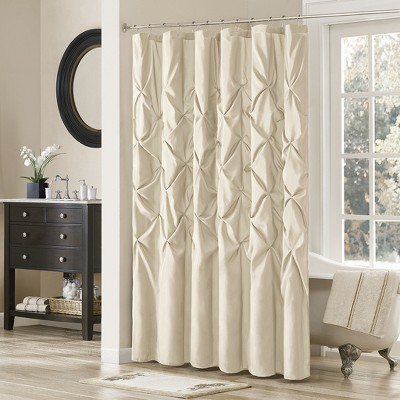 Piedmont Solid Polyester Shower Curtain - Cream
