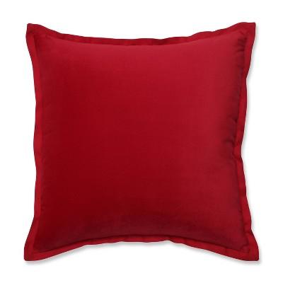 "18""x18"" Velvet Flange Square Throw Pillow - Pillow Perfect"